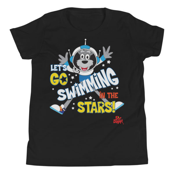 Sir Dapp! Swimming in the Stars Black T-Shirt